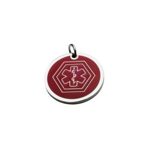 Hanging Medal ID Plate – Red Medical Symbol 26*26 Mm