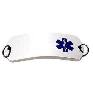 ID Slave Bracelet  In Steel – Blue Medical Symbol Rec 44*18 Mm