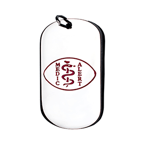 Pendant Medal Dog Tag ID Steel – Red Medical Symbol 26*43