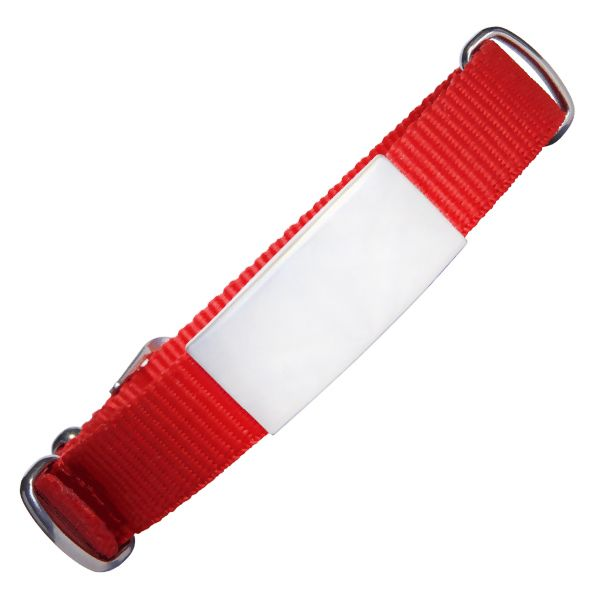 Emergency ID With Watch Nylon Strap With Military Type Design – Red Color 240*14mm