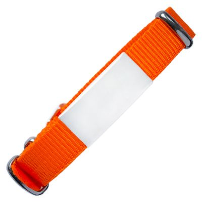 Emergency ID With Watch Nylon Strap With Military Type Design – Orange Color 240*14mm