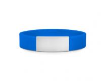 Slim elite wrist ID – blue band, stainless steel plate – 29*13mm