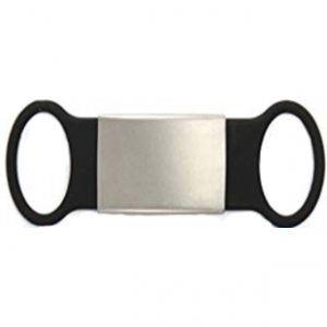 Multipurpose Plate Waterproof ID Alert (Use In Shoes , Bracelete Or Others ) – Black Color 18*55 Mm